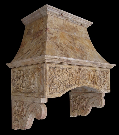 Travertine Marble Range Hood Model Mfp128 Houston Tx