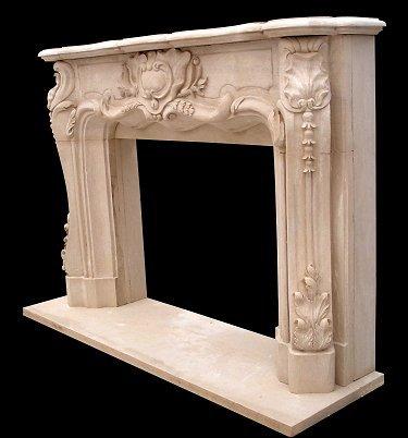 Louis Xv Fireplace Surround Model Mfp125 Houston Tx Custom Imported Marble Fireplace