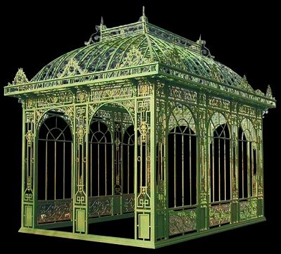 Cast iron gazebo victorian conservatory conservatory for French style gazebo