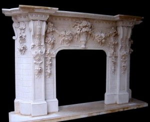 Model Mfp194 Houston Tx Custom Imported Marble Fireplace